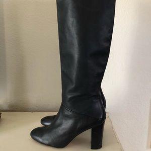 Banana Republic Knee High Boots Stacked Heel black